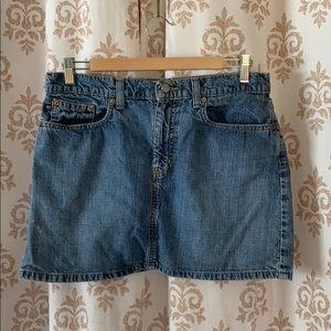 RL short blue jean denim 5 pocket skirt 8